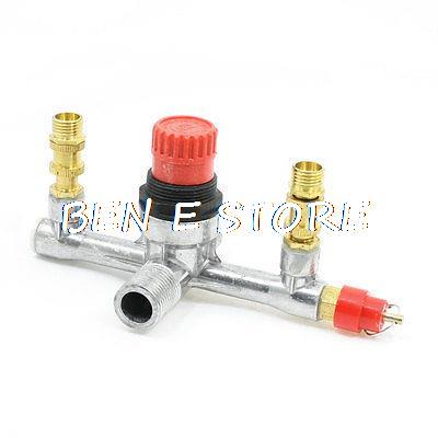 1/4PT 6/15 Female 1/2PT Male Thread Air Compressor Manual Valve Fitting
