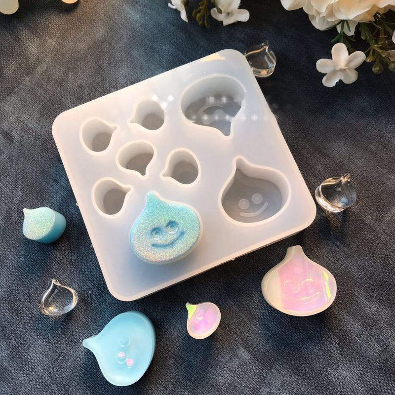 Cute Cartoon Water Drop Epoxy Resin Casting Silicone Mold Jewelry Making Tools