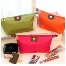 women's cosmetic bag large capacity cosmetic case candy color nylon cosmetic box waterproof makeup case bag in bag