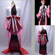 Anime Bungo sokak köpekleri şekil Ozaki Koyo Higannbana Kimono Cosplay kostüm Tailor Made
