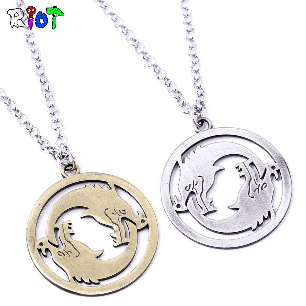 FPS Game OW Overwatch Pendant Necklace Carving Totems Logo High Quality Alloy Link Chain Choker Necklaces Men Jewelry Fans Gift
