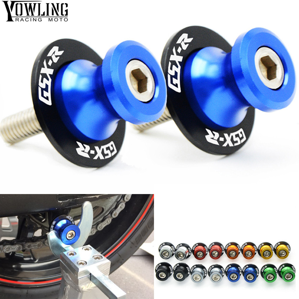 Motorcycle accessories GSX R 600 GSXR750 Swingarm Spools slider For Suzuki GSXR GSX-R 600 750 1000 K2 K3 K4 K5 K6 K7 K8 K9 K11 large size 7cm 7cm motorcycle gsxr gsx r brake oil reservoir sock fluid tank cup cover cuff sleeve for suzuki blue black red