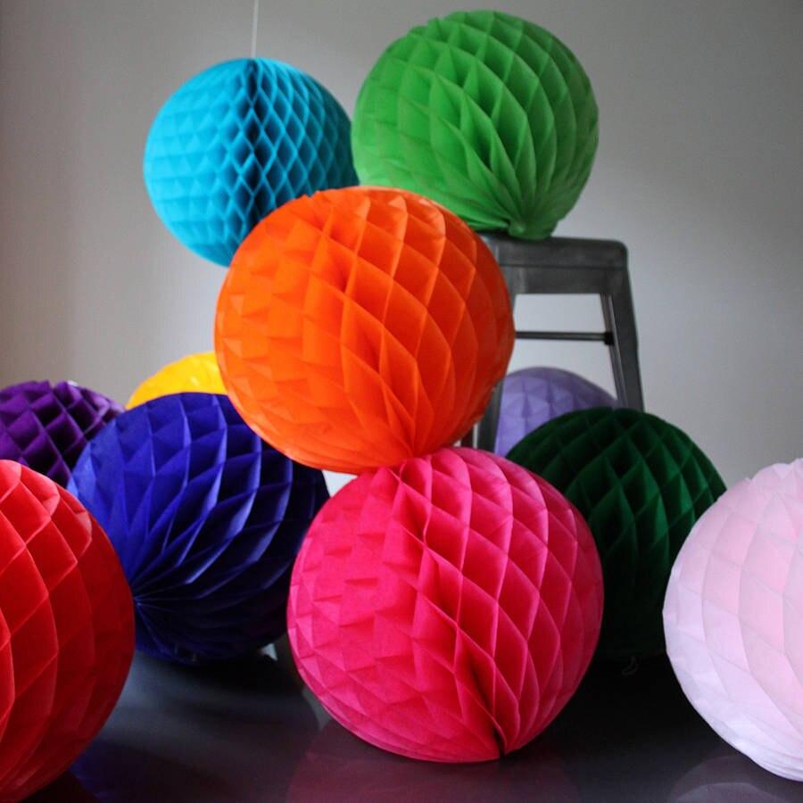 unidslote uu cm chino pelota panal de papel de seda
