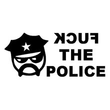 Stick The Police From The Car Decor Fashion Car Vinyl Label Style Handsome And Cool Stickers(China)