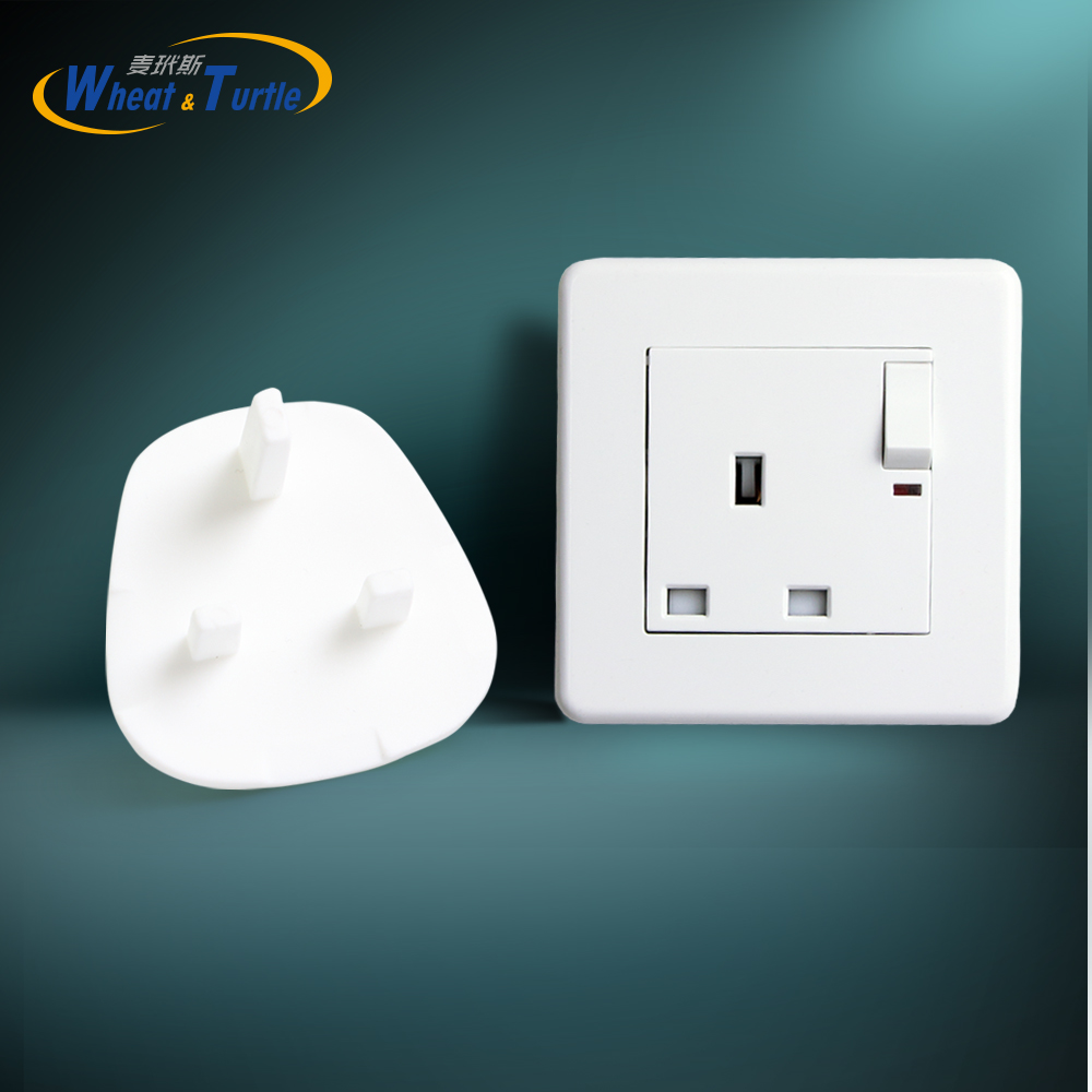 4Pcs/Lot UK/BS Power Socket Outlet Mains Plug Cover Baby Child Safety Protector Guard