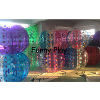 6pcs+1pump 1.0m TPU Commercial TOP inflatable Red body zorb/bubble soccer / bubble ball for football