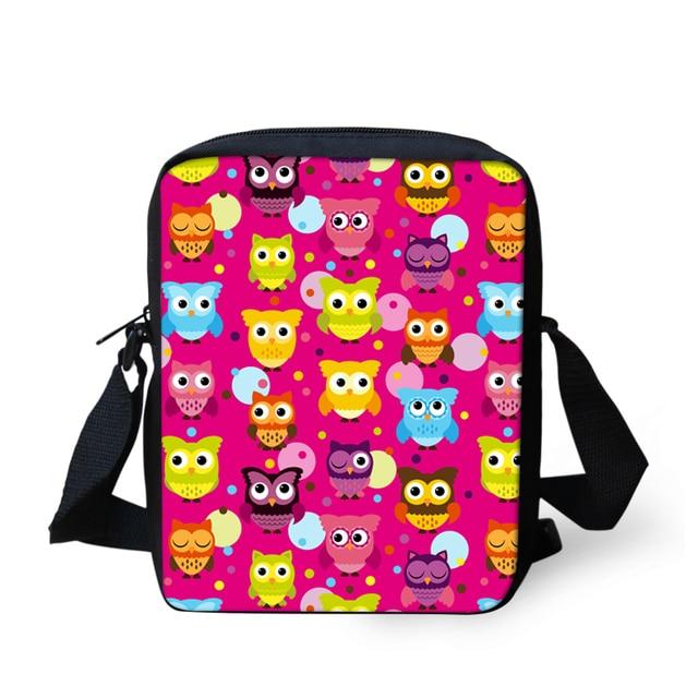 FORUDESIGNS mall Bolsa Girls Crossbody Bag Animal Cute Owl Print Women  Messenger Bags Kids Children Casual d36b8af64b90c