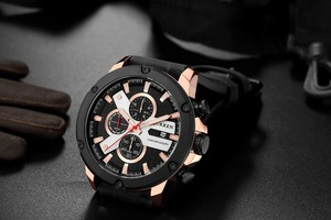 Image 4 - Watch Men Sports Chronograph Quartz Wrist Watches Hot Fashion Brand CURREN Leather Relog Hombre Water Resistence With Calendar