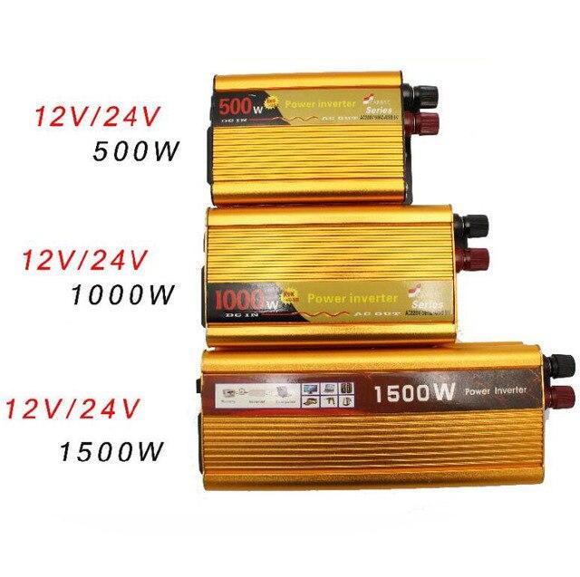 DC 12 V 24 V AC 220 V Correction wave Power Inverter 1500W 1000W 500 Watts Street Car Market Power Inverter