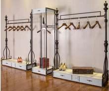 Витрина для магазина одежды Напольные стеллажи мужчин и женщин