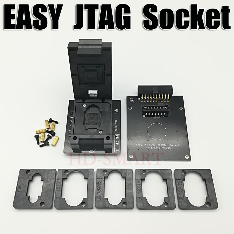 Original EASY JTAG PLUS BOX  EMMC Socket  BGA153/169, BGA162/186, BGA221, BGA529  Free Shipping