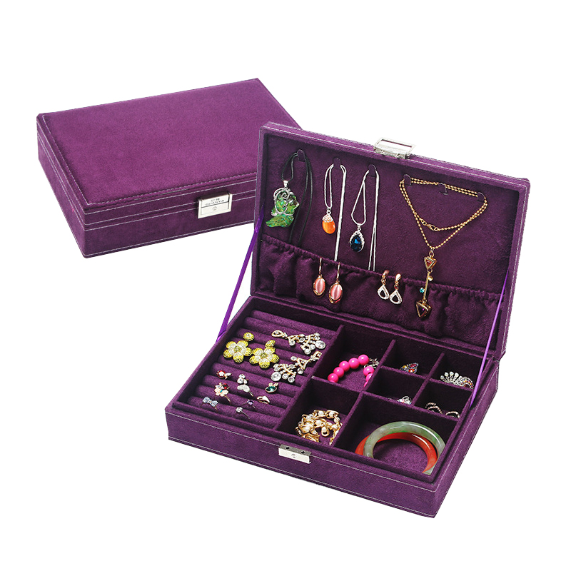 High Quality Women Makeup Organizers Jewelry Bracelet Necklace Ring Earrings Box Beauty Travel Cosmetics Display Container Case