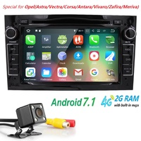 Android7.1 2DIN Vauxhall Opel Astra H G J için DVD GPS Vectra Antara Zafira Corsa Multimedya ekran araba radyo stereo ses 4 GWIFI