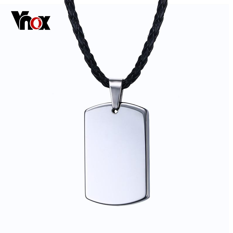 Vnox personalized dog tag necklace women men tungsten carbide vnox personalized dog tag necklace women men tungsten carbide engravable necklaces pendants in pendant necklaces from jewelry accessories on aloadofball Choice Image