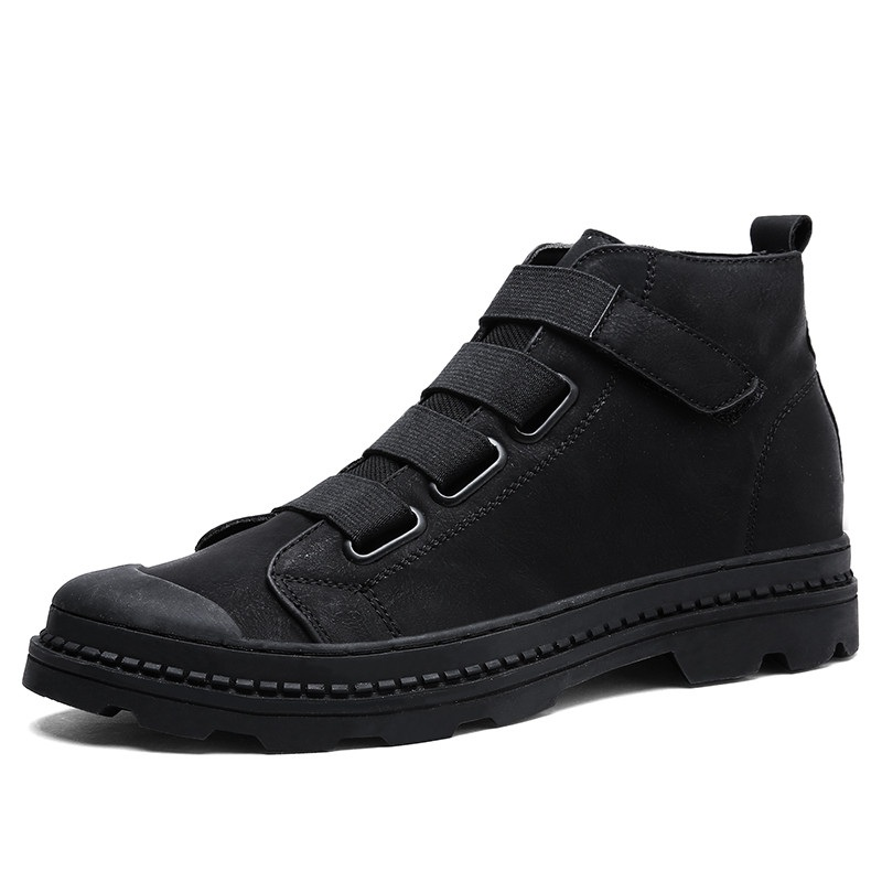 Air Shoes brown Black Men Plein Bottes Velvet En Martin Chaussures Casual Cuir Haute black Homme Top Véritable grey Shoes Cheville De Botas Merkmak Hommes Respirant Shoes Shoes px6wqgHnT