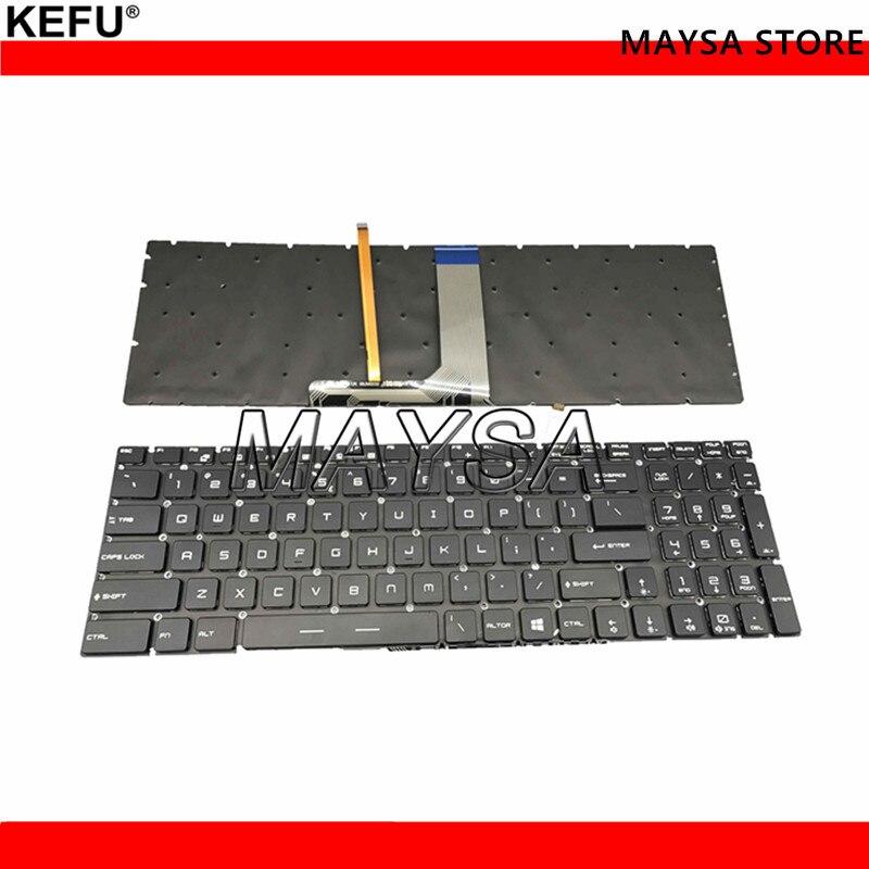 Genuine US layout Laptop Keyboard Fit For MSI GS60 GS70 GT72 GE62 GE72 Series Full Colorful Backlit without frame V143422AK1 UI laptop keyboard for msi ge60 v123322ck1 ti s1n 3eth261 sa0 tr s1n 3etr2a1 sa0 it v123322ik1 v139922ck1 uk hb s1n 3ehb2h1 sa0 ui
