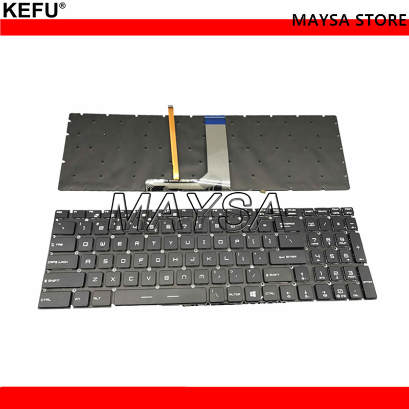 Genuine US layout Laptop Keyboard For MSI GS60 GS70 GT72 GE62 GE72 Series Full Colorful Backlit without frame V143422AK1 UI new for msi gt72 gs60 gs70 ws60 ge72 ge62 backlit keyboard us