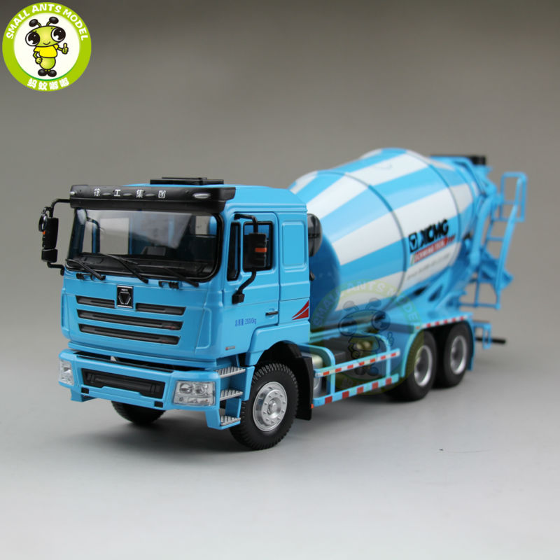 1/35 XCMG MAN Schwing Concrete Mixing Truck Construction Machinery Diecast Model Toy Hobby Blue 1 35 xcmg benz construction mounted concre truck diecast metal construction vehicles toy