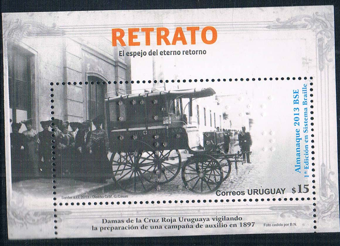 2013 Uruguay C1916 1M new 0626 carriage Braille stamps airbox 2013