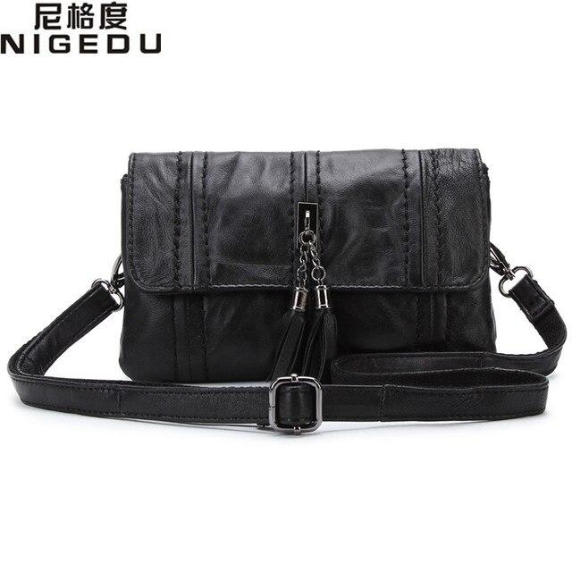 Sheepskin women messenger bags small Genuine Leather Women's Shoulder bag little bag ladies tassel Crossbody Bag clutch Clutches