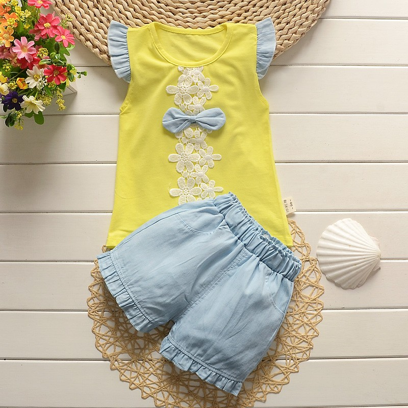 2016-new-fashion-baby-girls-summer-clothing-sets-kids-outfits-suit-children-flower-bow-T-shirt (3)
