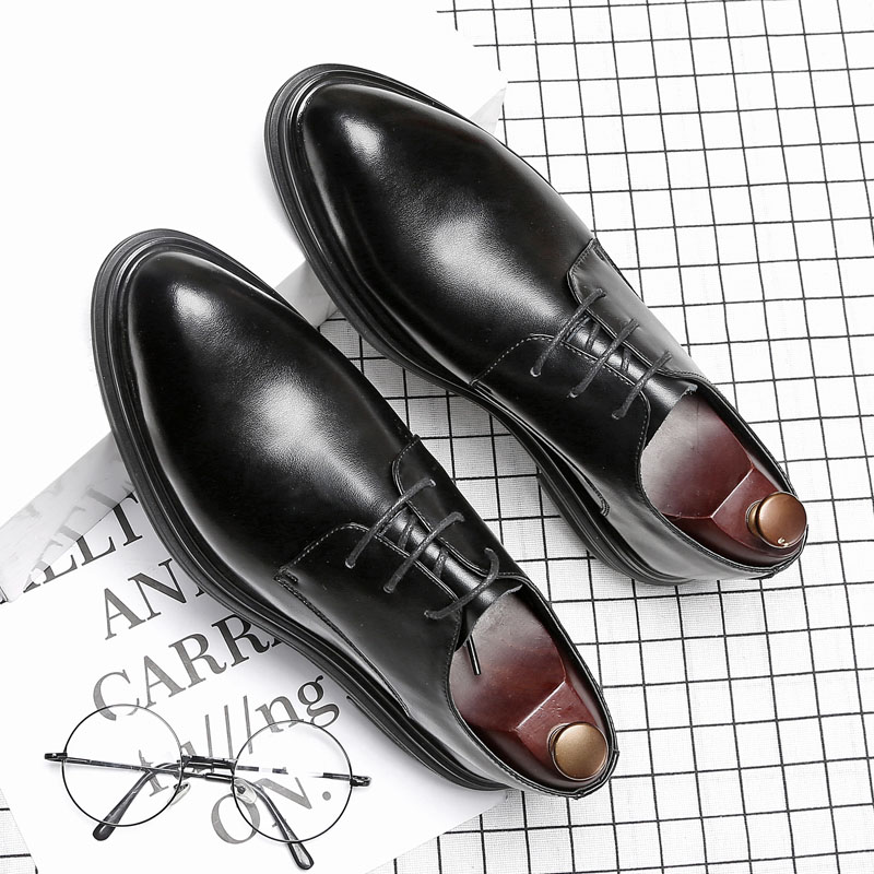 DESAI Brand Genuine Leather Fashion Men Formal Shoes Pointed Toe Lace Up Oxfords Shoes For Men Dress Shoes Business new 2018 fashion men dress shoes black cow leather pointed toe male oxfords business shoes lace up men formal shoes yj b0034 page 7