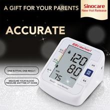 цена на SINOCARE Sphygmomanometer Arm Blood pressure monitor Digital Tensiometer Blood Pressure Meter LCD Heart Beat Meter Tonometer