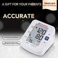 SINOCARE Sphygmomanometer Arm Blood pressure monitor Digital Tensiometer Blood Pressure Meter LCD Heart Beat Meter Tonometer