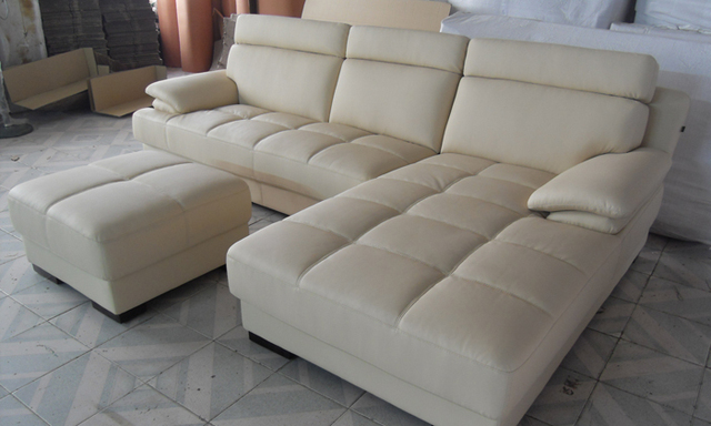 Superieur Free Shipping Furniture Living Room Leather Sofa Top Grain Leather L Shaped  Corner Sectional Sofa Set