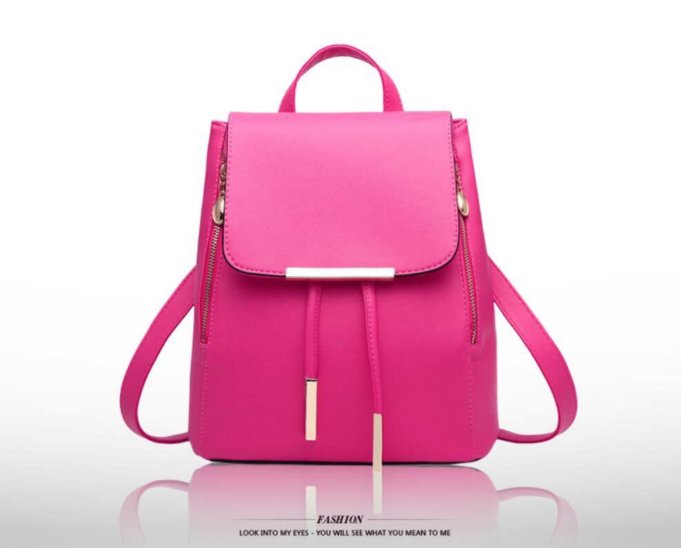 HTB17brkfbsTMeJjSsziq6AdwXXaU Ainvoev Bookbag Women Backpack Fashion Girls Leather Backpack Candy Color Teenage School bag Mochila High Quality Satchel