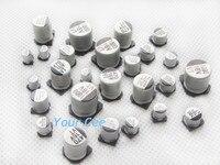 70 Pcs 16V 47uF To 1000uF SMD Aluminum Electrolytic Capacitors Kit