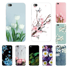 Xiaomi Redmi Go Case,Silicon Blue plum Painting Soft TPU Bac