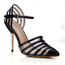 New Summer Fashion Sexy Women Pumps Pointed Toe Bukle Strap High Heeles Shoes Transparent Party Wedding Dress Shoes 3845D-6a цены онлайн