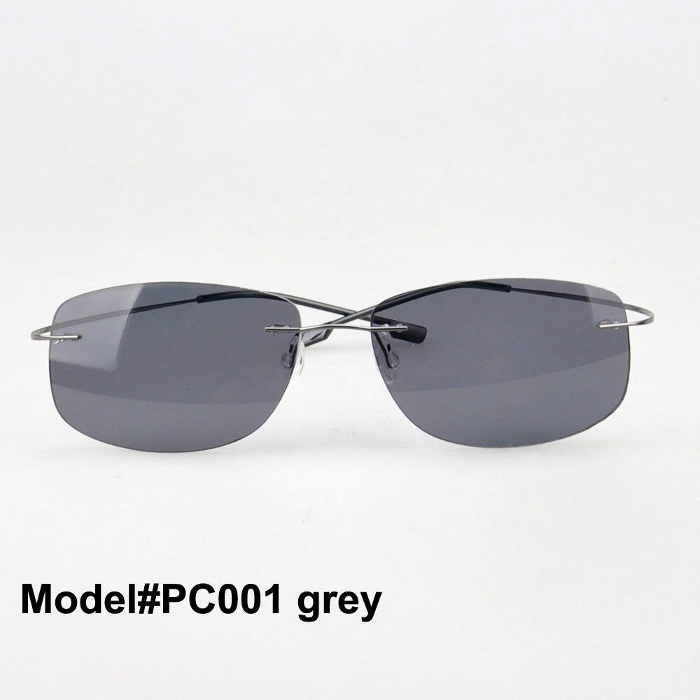 MON DOLI PC001 unisexe sans monture mémoire titane lunettes polarisées polycarbonate lunettes de soleil parasol