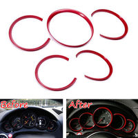 Car Dashboard Instrument Meter Panel Cover Trim Ring Decoration ABS 5Pcs/set Fit for Porsche Cayenne 2011 2016 Car Inner decal