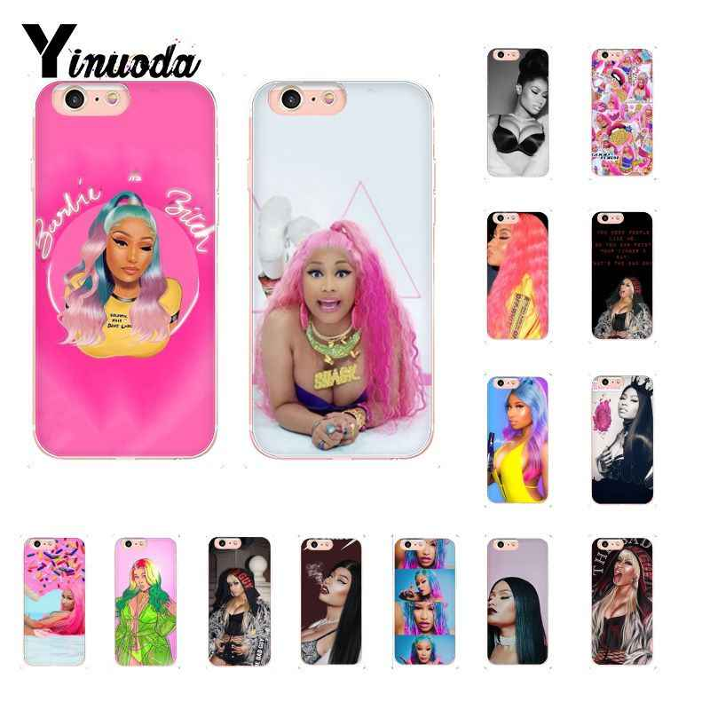 Yinuoda Nicki Minaj TPU Telefoon Case Cover Shell voor iPhone 8 7 6 6S Plus X XS MAX 5 5S SE XR 10 Cover