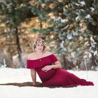 SMDPPWDBB Primavera Maternidade Vestidos Maternidade Fotografia Adereços Sessão de Fotos Da Gravidez Mulheres Maxi Vestido Elegante Fantasia Vestido Longo