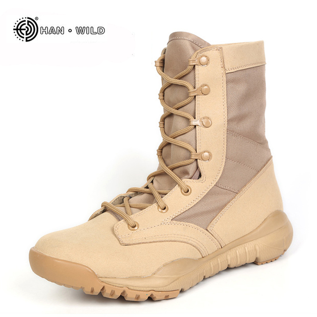 dfe2e20a2df 2018 Men Army Tactical Boots Winter Leather Military Ankle Boots Summer Desert  safety Shoes Men s Footwear Combat Boots