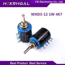 2PCS WXD3-12 1W 4K7 4.7K ohm WXD3-12-1W 5 ring multi-circle precision wire-wound potentiometer