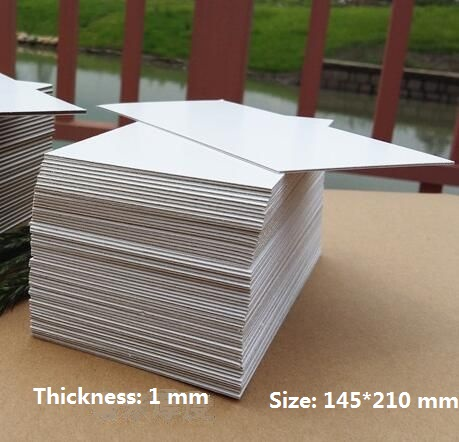 Chipboard Cardstock 1mm Thick Card White Cardboard Sheet For Paper Craft Backing Modelling 210*145mm 1/10/20/30pcs You Choose