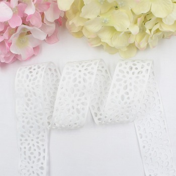 16531-20,38 mm hollow flower series solid color ribbons DIY material, free shipping wedding accessories Packaging