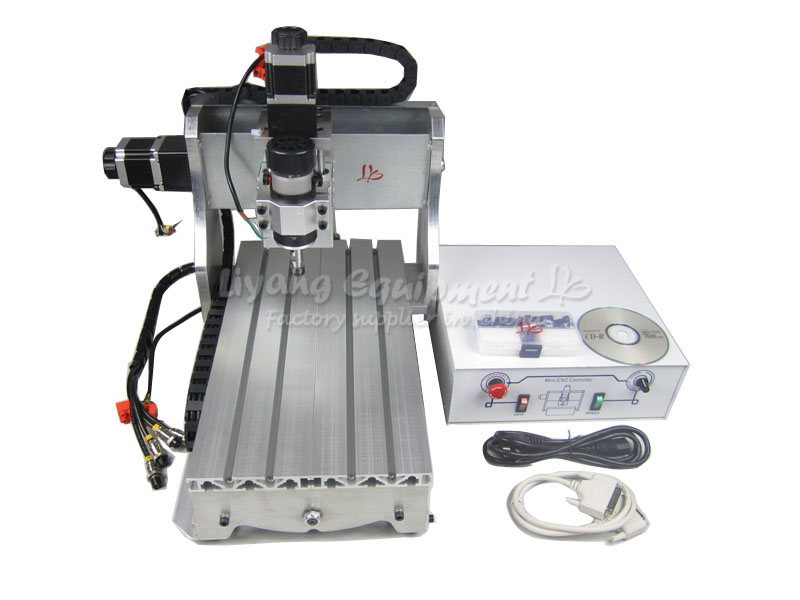 mini cnc milling machine 3020 Z-D300 engraving machine, CNC router/ cutter made in china 300W Spindle