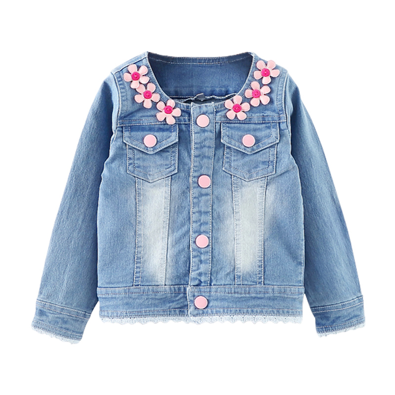 3766ed068207 Baby Girl Capes Female Cardigan Infant Jean Jacket Blouse Giacche ...