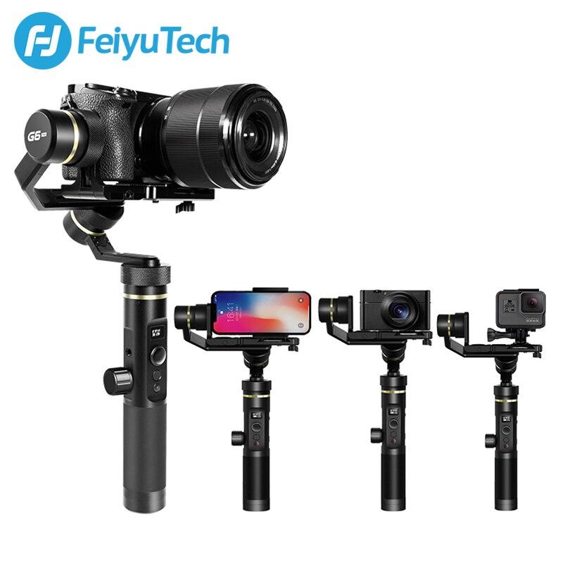 FeiyuTech G6 Plus Handheld Estabilizador DSLR Camera Gimbal para Gopro Action Camera Smartphone Herói 7 6 5 samsung s8