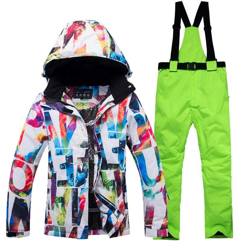 Femmes Ski costume hiver 2018 nouvelle marque Ski ensemble imperméable respirant snowboard costumes pour femmes en plein air neige veste et pantalon