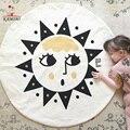 Baby Play Mats KAMIMI 2017 new Sun face impreso Juego de Rastreo bebé manta de dormir de algodón ropa de cama recién nacido bebé crawl Alfombra