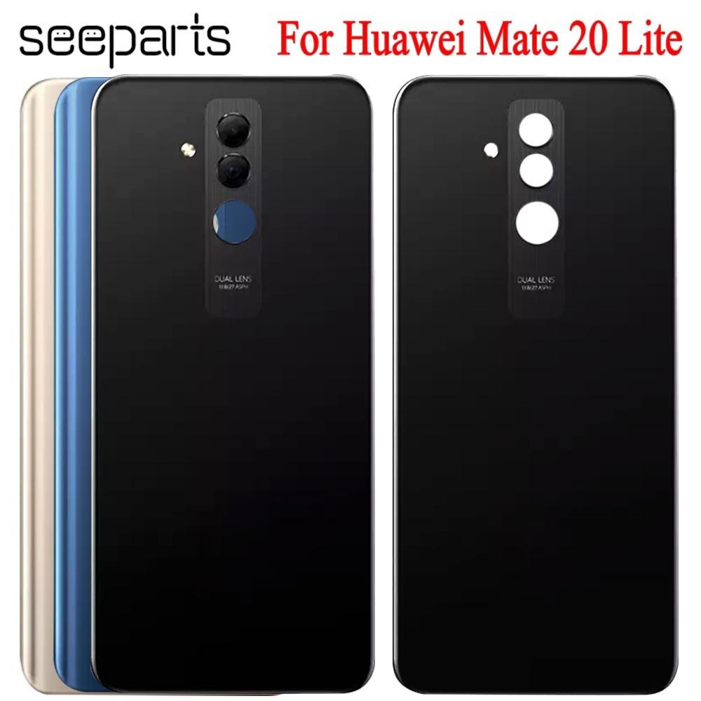 Battery-Cover Camera Mate 20-Lite Back-Case Glass-Lens Rear-Door-Housing Huawei
