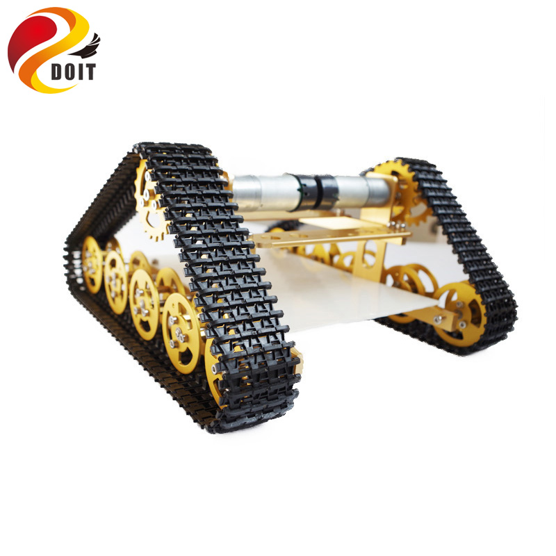 Original DOIT RC Metal Tank Chassis Caterpillar Walle Chassis Crawler for UNO Barrowload DIY RC Toy Tractor Obstacle Wall-e official doit rc metal tank chassis wall caterpillar tractor robot wall e crawler wall brrow land car diy rc toy remote control