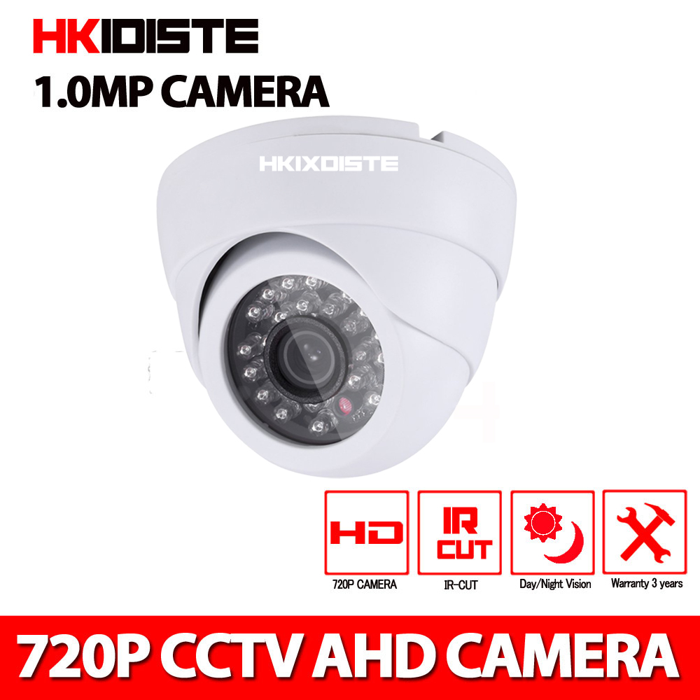 MINI 1MP AHD CCTV Camera 720P  Security IR 20M Night vision Work Analog HD Surveillance 2000TVL Dome Camera For AHD DVR donphia 720p ahd cctv camera outdoor 1mp h42 cmos sensor waterproof ir night vision work with ahd dvr surveillance security