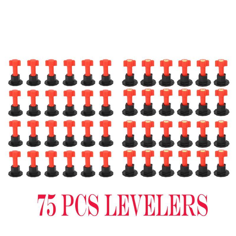 75pcs/set 50PCS/SET Level Wedges Tile Spacers For Flooring Wall Tile Carrelage Level Replaceable Steel Needles Multi-function 2